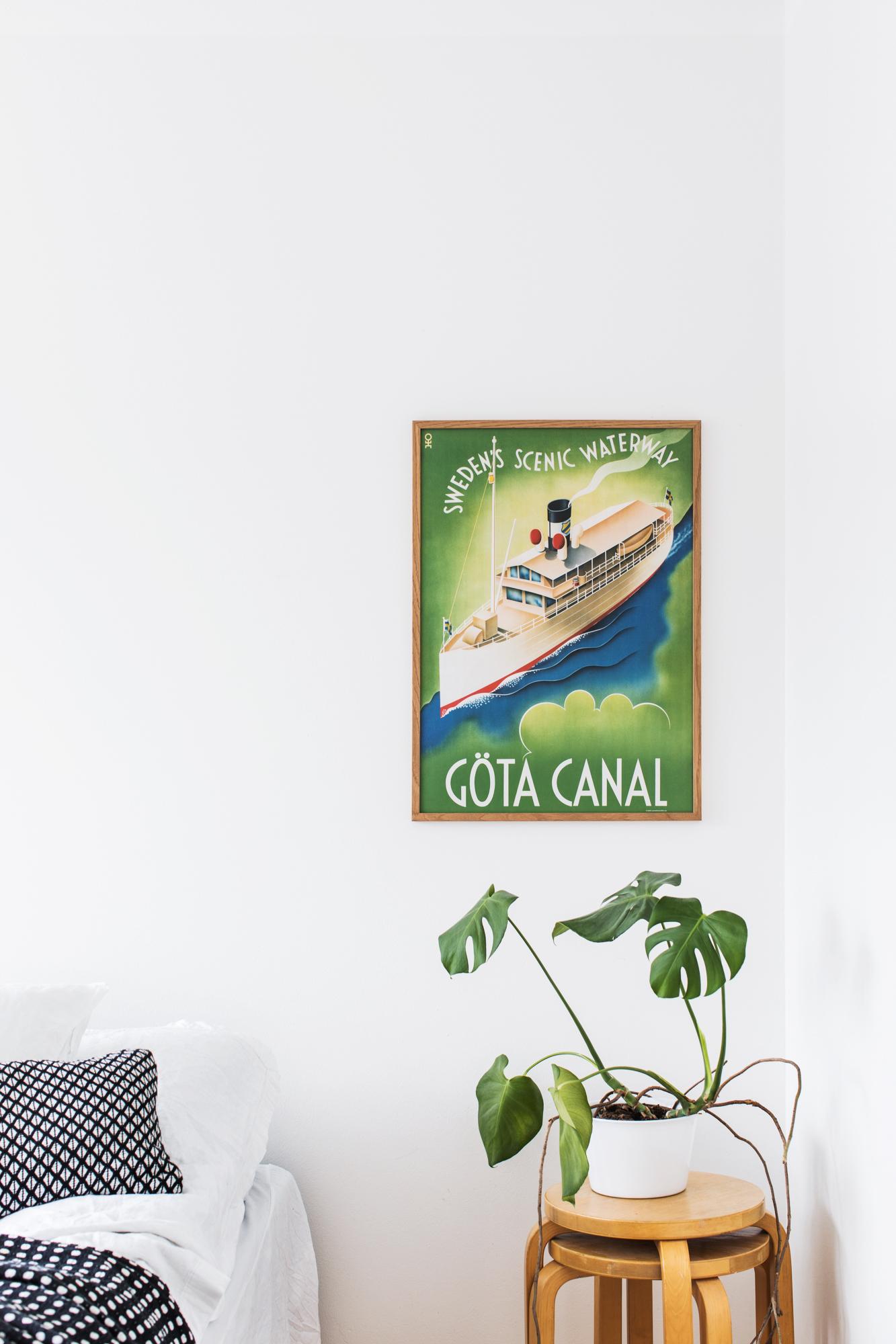Affisch som föreställer Göta kanal