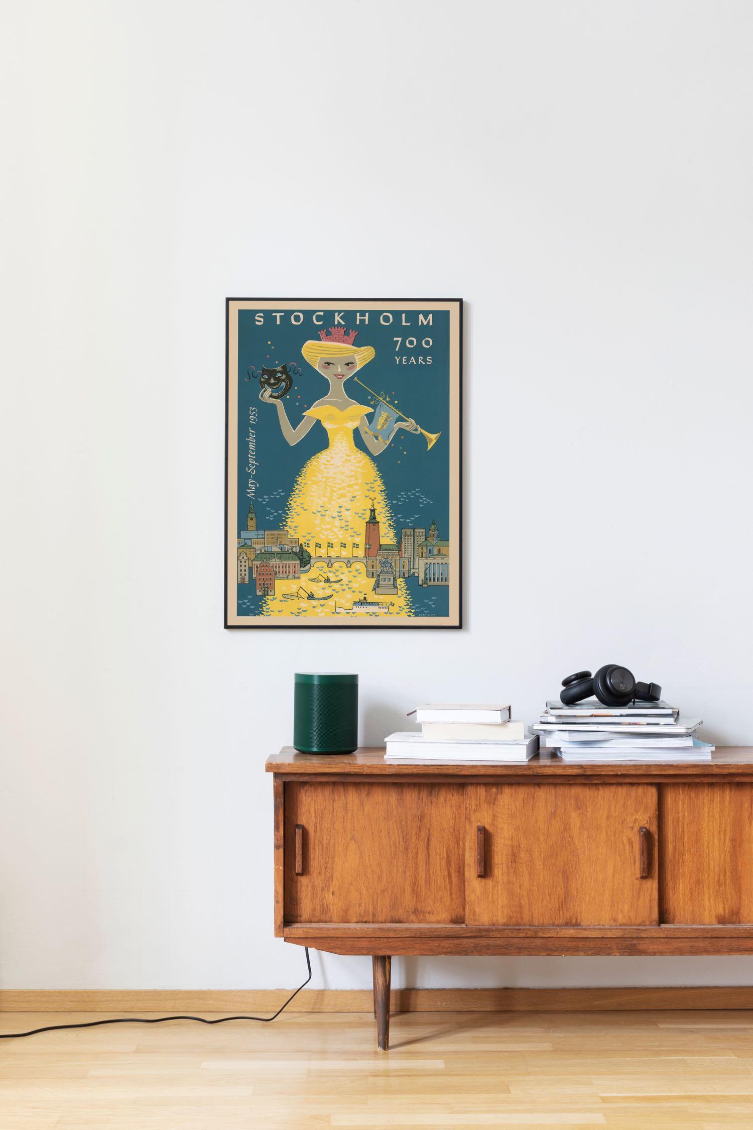 Affisch som föreställer Stockholm 700 år