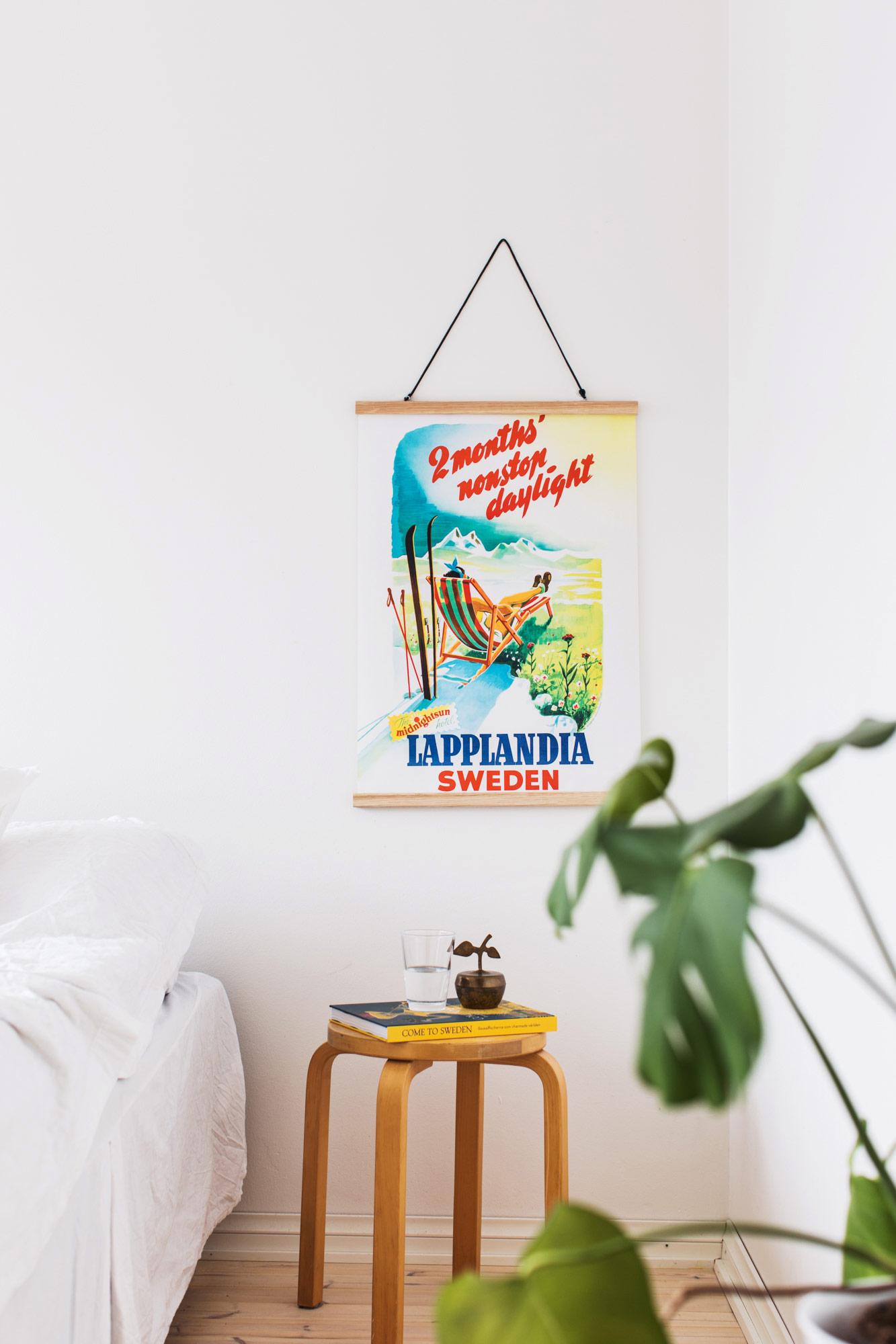 Affisch som föreställer Lappland