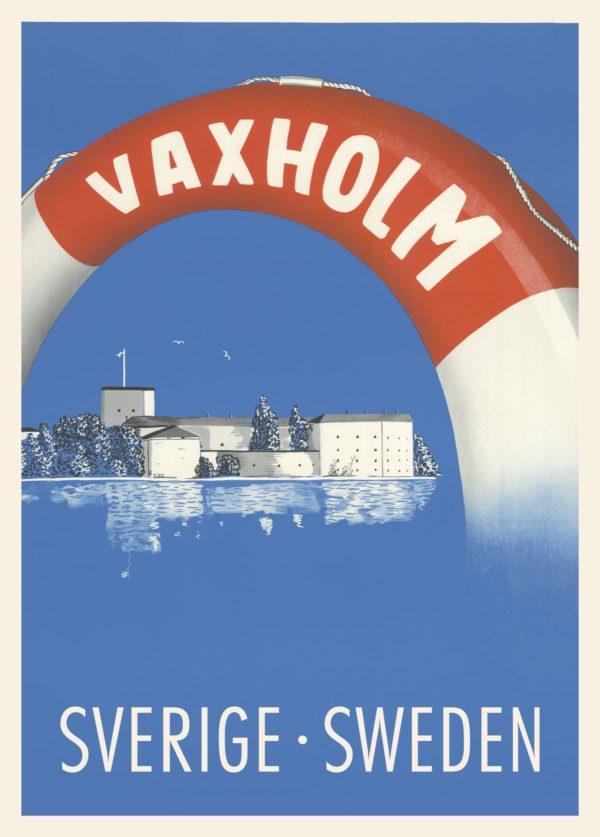 Affisch som föreställer Vaxholm