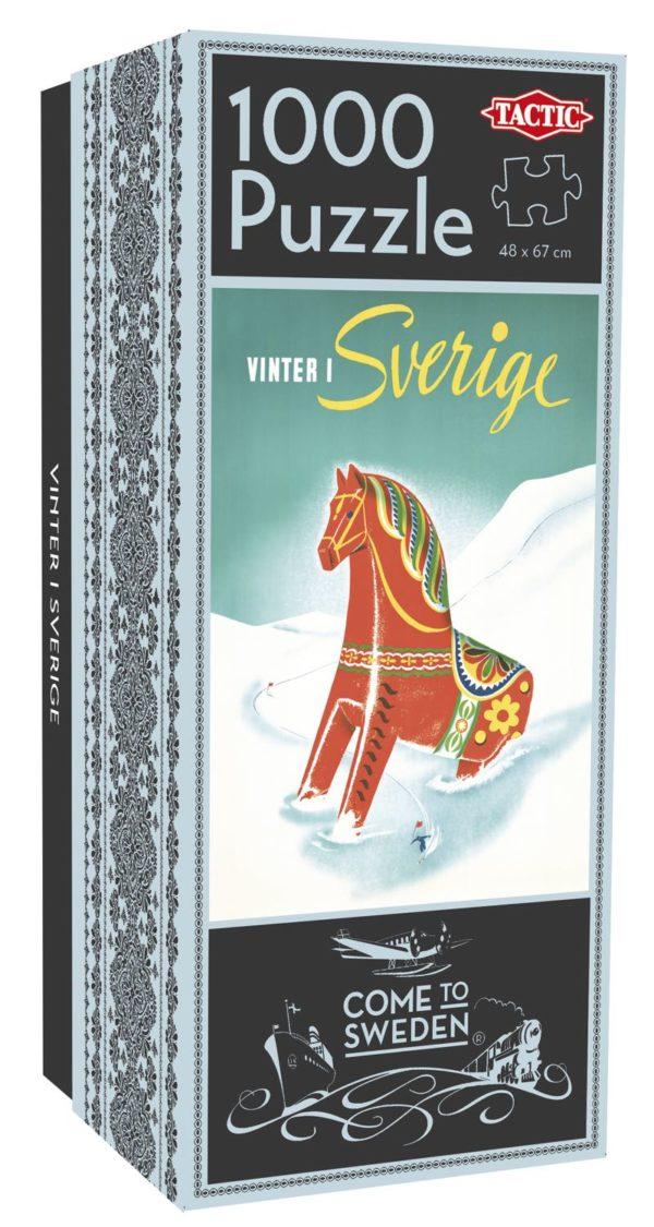 Pussel som föreställer vintern i Sverige